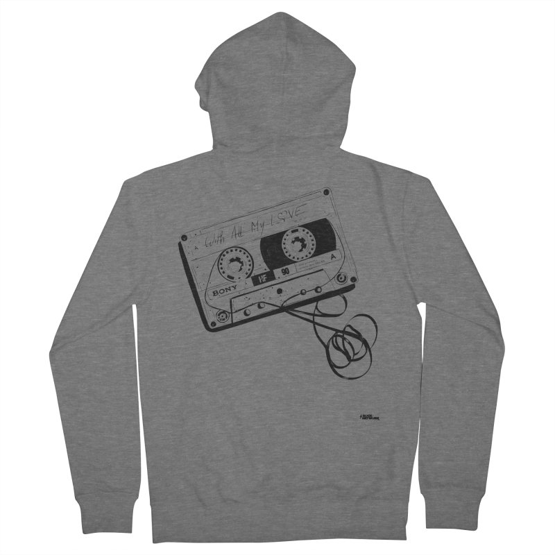 The Love Tape Men's French Terry Zip-Up Hoody by ROCK ARTWORK | T-shirts & apparels