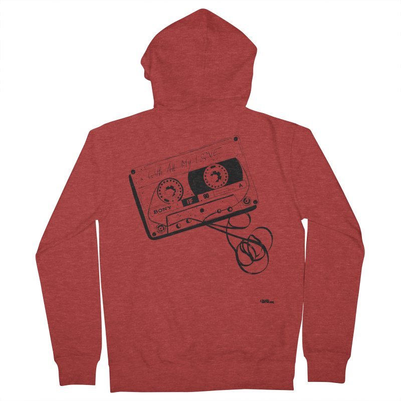 The Love Tape Men's Zip-Up Hoody by ROCK ARTWORK | T-shirts & apparels