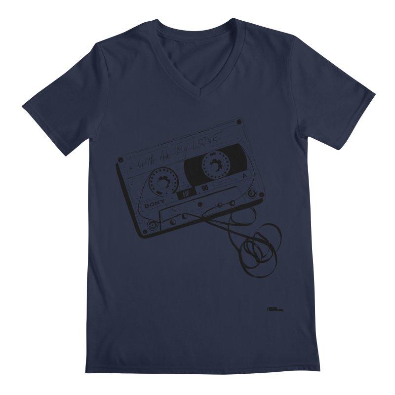 The Love Tape Men's V-Neck by ROCK ARTWORK | T-shirts & apparels