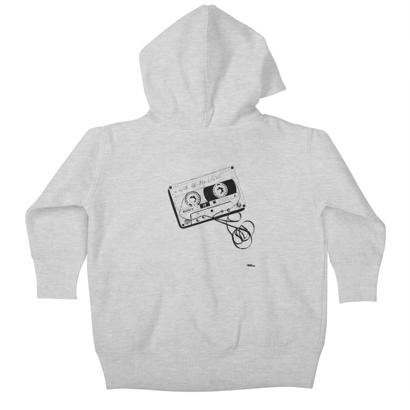 The Love Tape Kids Baby Zip-Up Hoody by ROCK ARTWORK | T-shirts & apparels