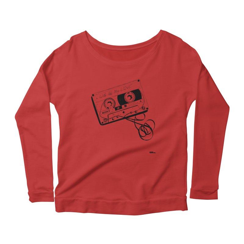 The Love Tape Women's Longsleeve Scoopneck  by ROCK ARTWORK | T-shirts & apparels