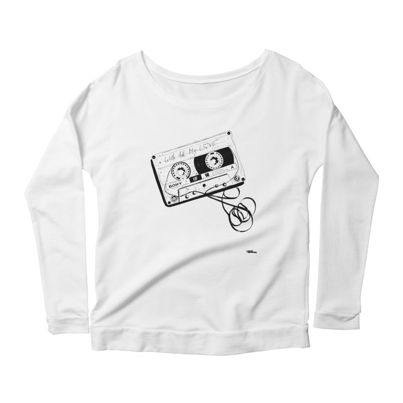 The Love Tape Women's Longsleeve Scoopneck  by ROCK ARTWORK | T-shirts & apparels