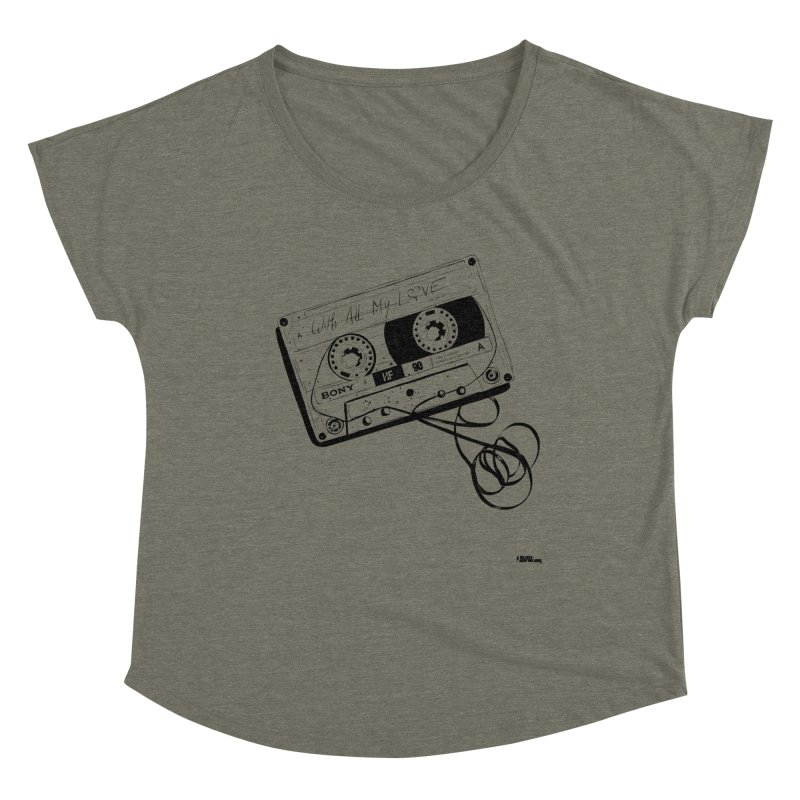 The Love Tape Women's Dolman Scoop Neck by ROCK ARTWORK | T-shirts & apparels