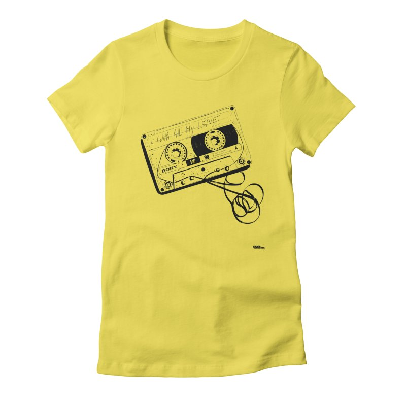The Love Tape Women's Fitted T-Shirt by ROCK ARTWORK | T-shirts & apparels