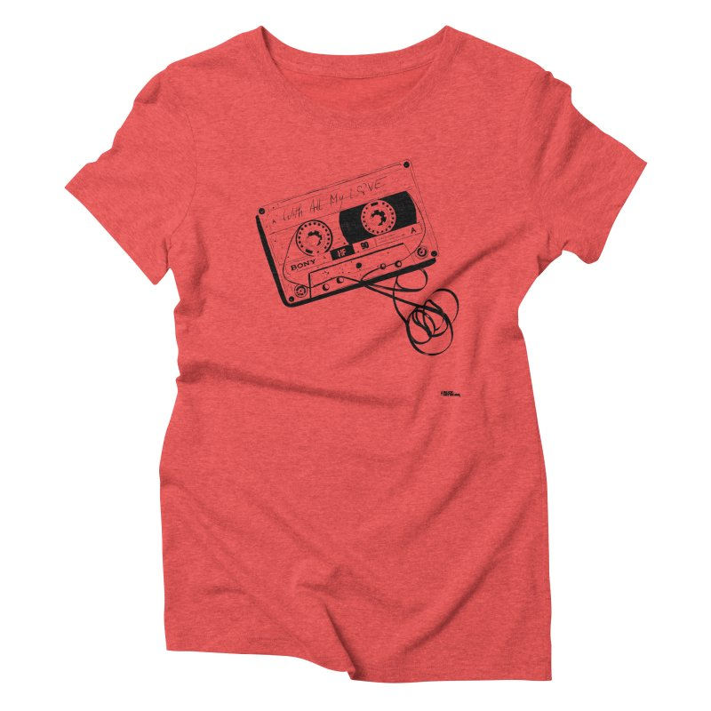 The Love Tape Women's Triblend T-Shirt by ROCK ARTWORK | T-shirts & apparels