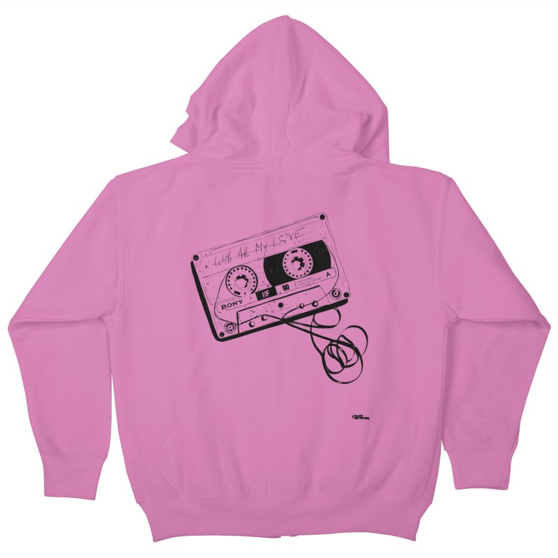 The Love Tape Kids Zip-Up Hoody by ROCK ARTWORK | T-shirts & apparels