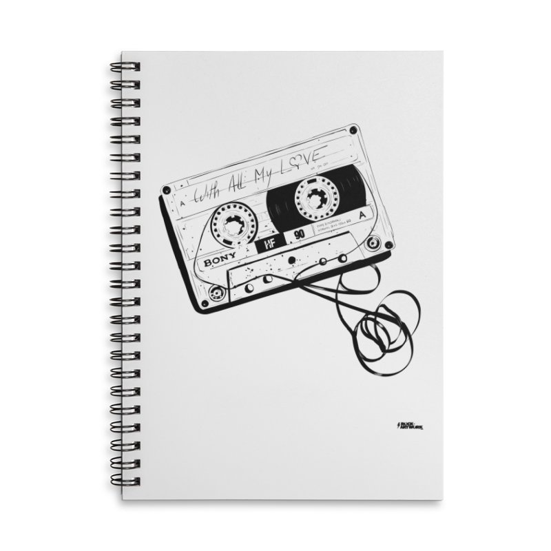 The Love Tape Accessories Lined Spiral Notebook by ROCK ARTWORK | T-shirts & apparels