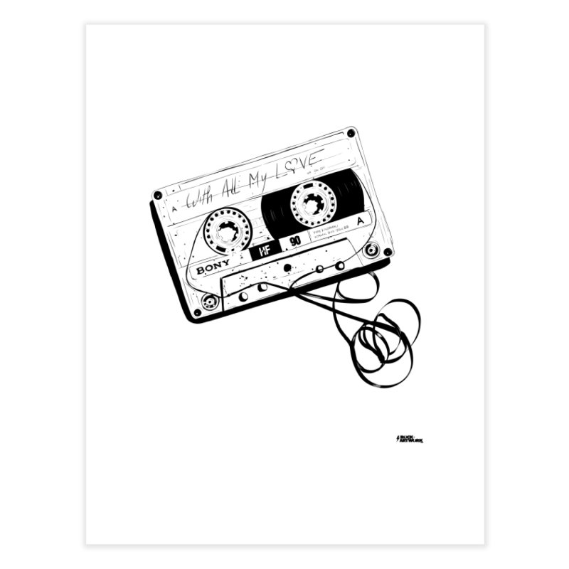 The Love Tape Home Fine Art Print by ROCK ARTWORK | T-shirts & apparels