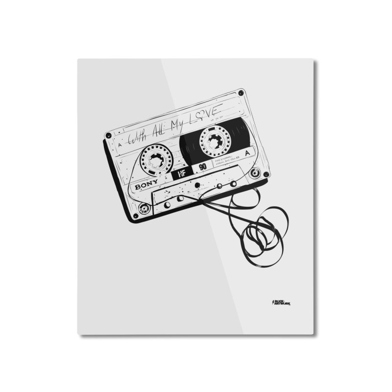 The Love Tape Home Mounted Aluminum Print by ROCK ARTWORK | T-shirts & apparels