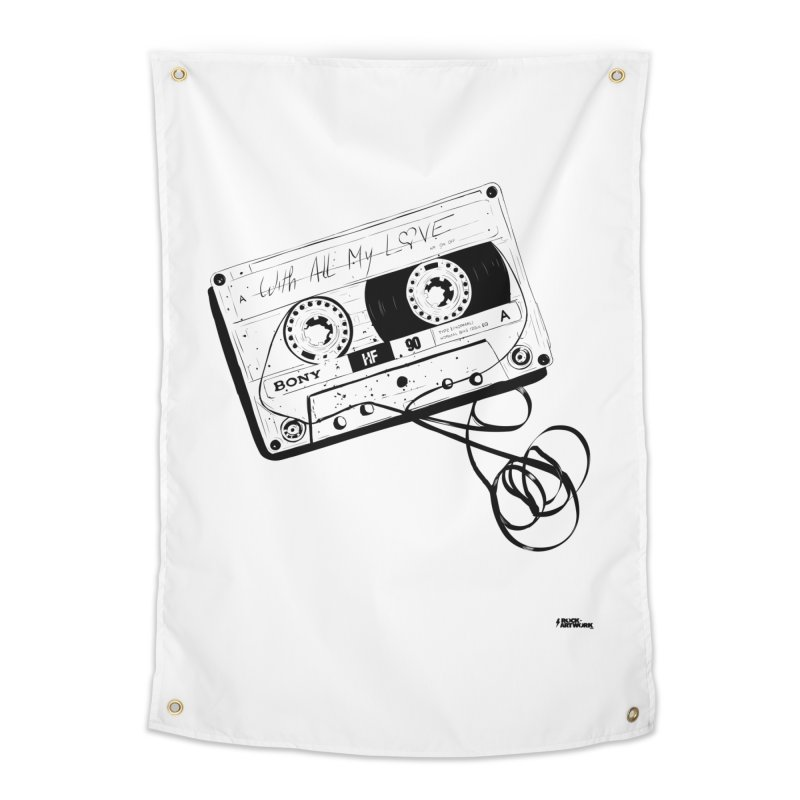 The Love Tape Home Tapestry by ROCK ARTWORK | T-shirts & apparels