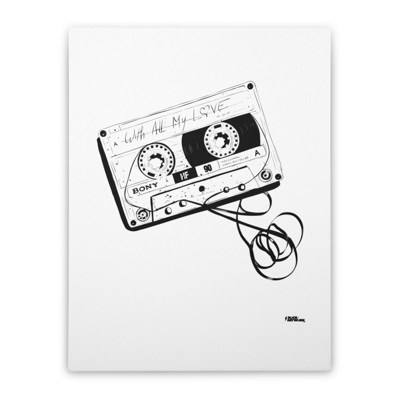 The Love Tape Home Stretched Canvas by ROCK ARTWORK | T-shirts & apparels