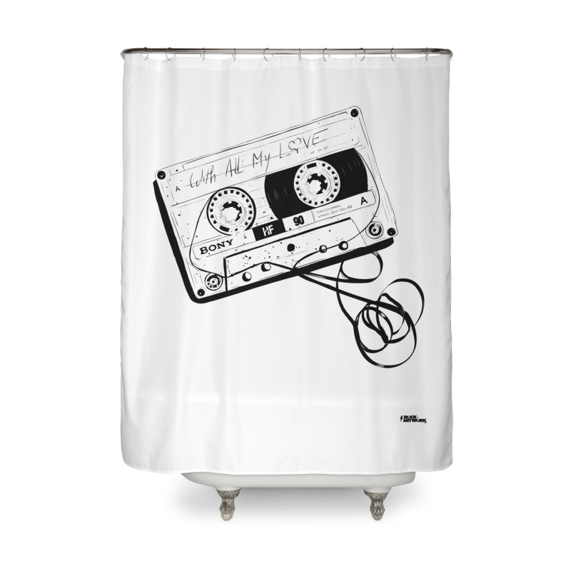 The Love Tape Home Shower Curtain by ROCK ARTWORK | T-shirts & apparels
