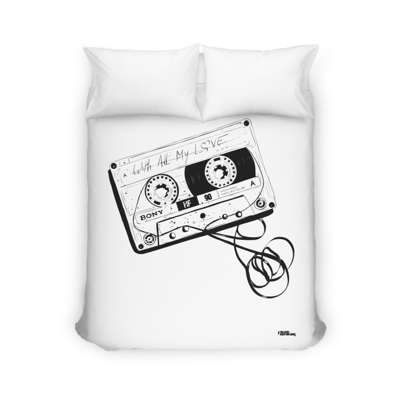 The Love Tape Home Duvet by ROCK ARTWORK | T-shirts & apparels