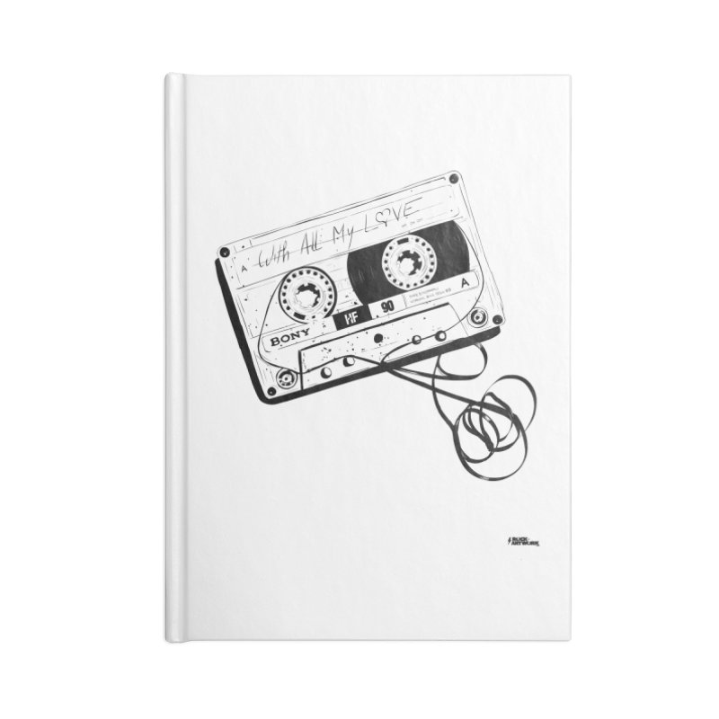 The Love Tape Accessories Lined Journal Notebook by ROCK ARTWORK | T-shirts & apparels