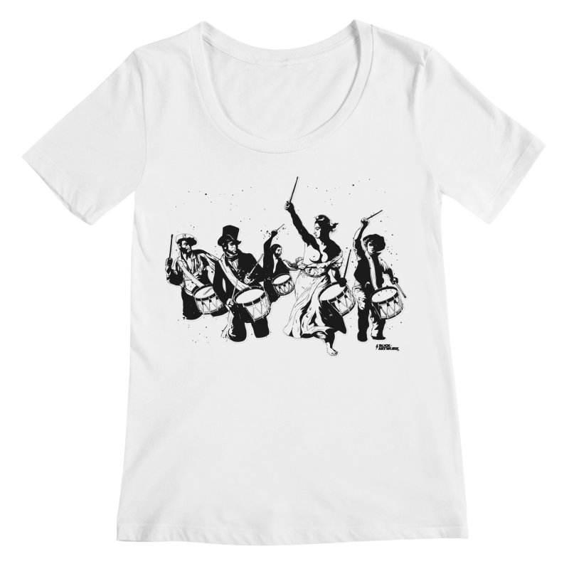 the new revolution Women's Regular Scoop Neck by ROCK ARTWORK | T-shirts & apparels