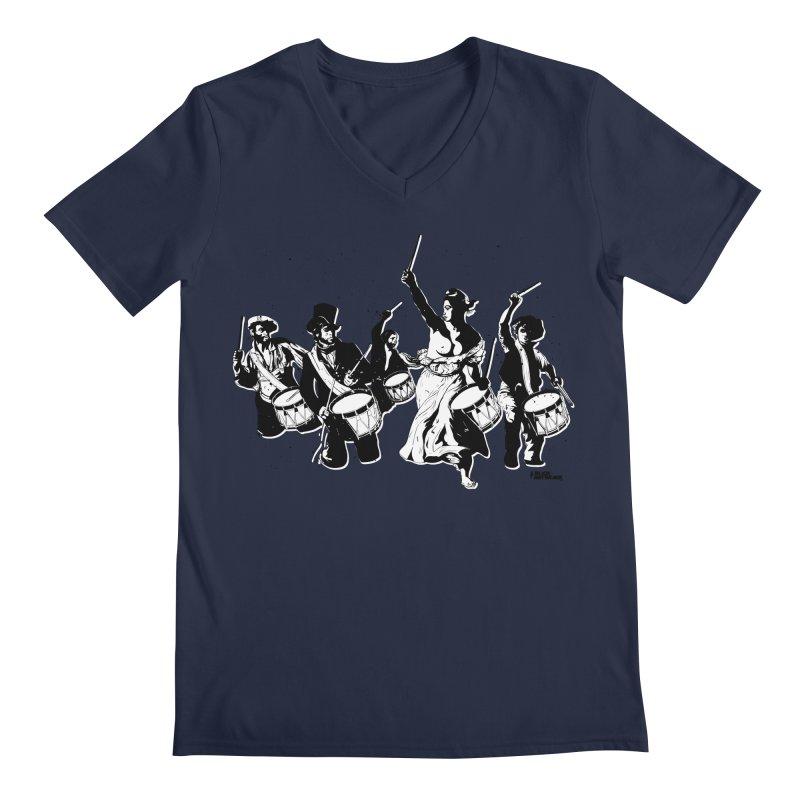 the new revolution Men's V-Neck by ROCK ARTWORK   T-shirts & apparels