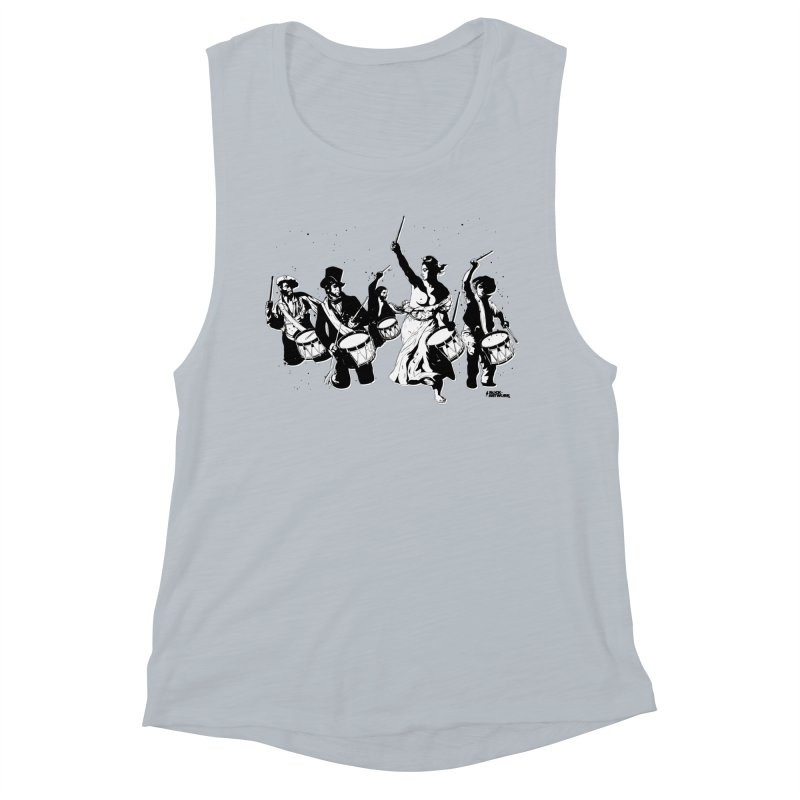 the new revolution Women's Muscle Tank by ROCK ARTWORK   T-shirts & apparels