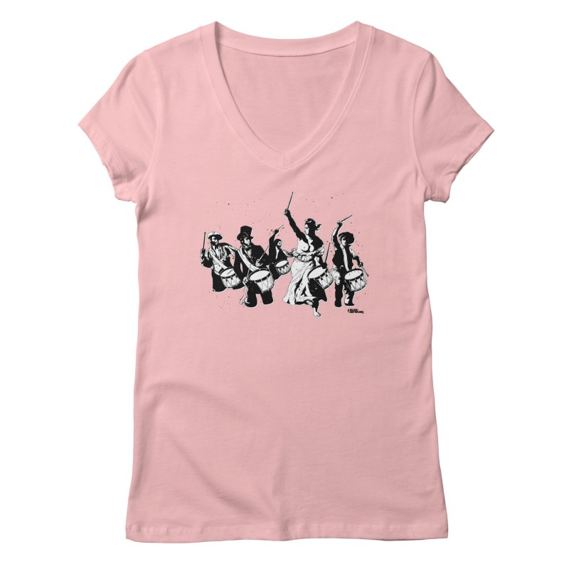 the new revolution Women's V-Neck by ROCK ARTWORK | T-shirts & apparels