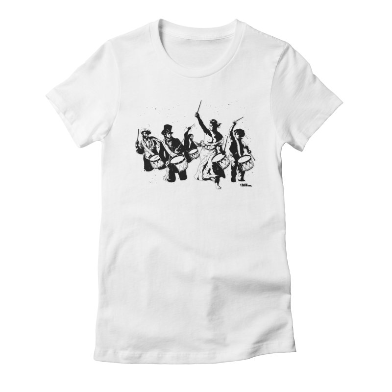 the new revolution Women's Fitted T-Shirt by ROCK ARTWORK   T-shirts & apparels
