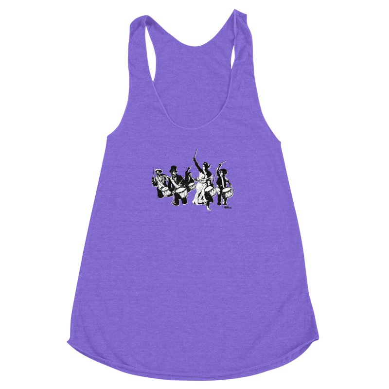 the new revolution Women's Racerback Triblend Tank by ROCK ARTWORK | T-shirts & apparels