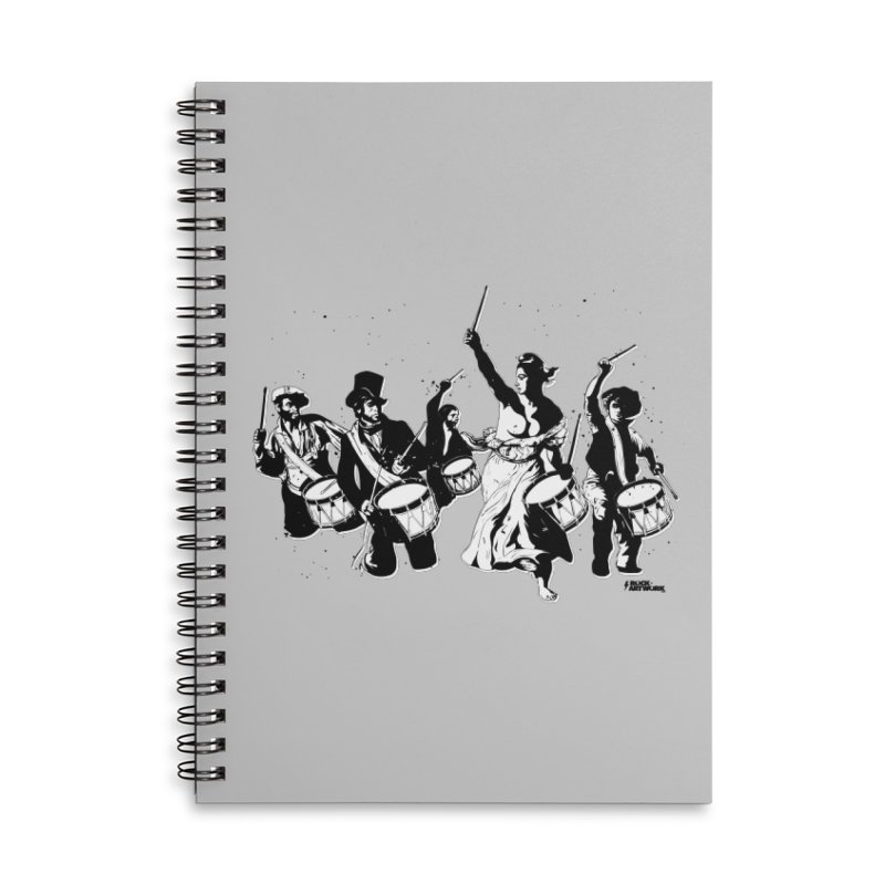 the new revolution Accessories Lined Spiral Notebook by ROCK ARTWORK | T-shirts & apparels