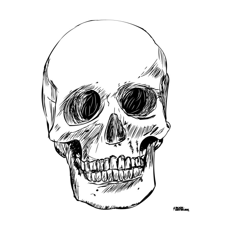 A Simple Skull Home Fine Art Print by ROCK ARTWORK | T-shirts & apparels