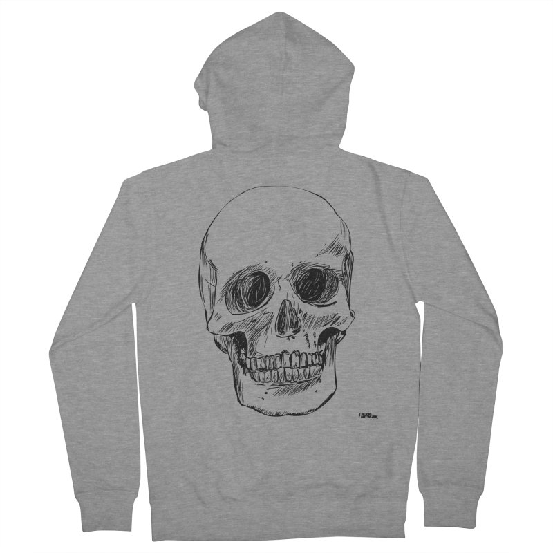 A Simple Skull Men's French Terry Zip-Up Hoody by ROCK ARTWORK | T-shirts & apparels