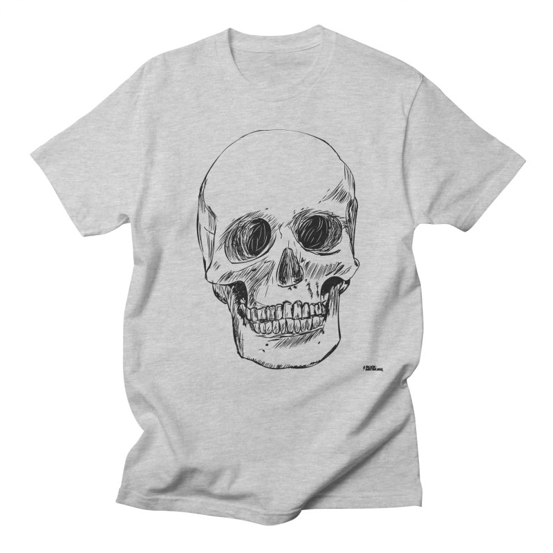 A Simple Skull in Men's Regular T-Shirt Heather Grey by ROCK ARTWORK | T-shirts & apparels