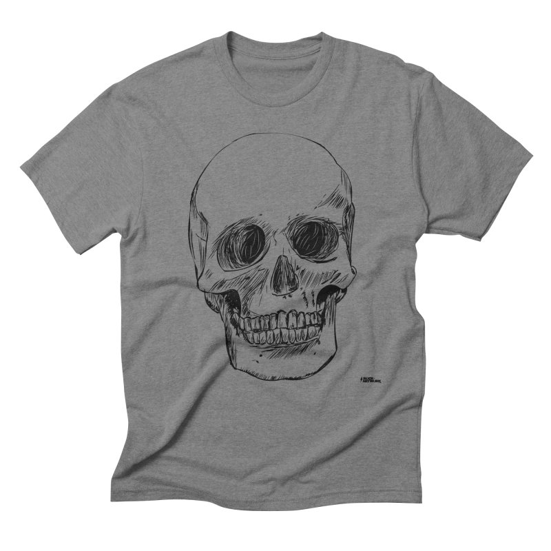 A Simple Skull Men's Triblend T-Shirt by ROCK ARTWORK | T-shirts & apparels