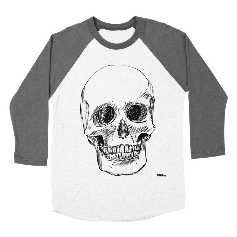 A Simple Skull Women's Baseball Triblend Longsleeve T-Shirt by ROCK ARTWORK | T-shirts & apparels