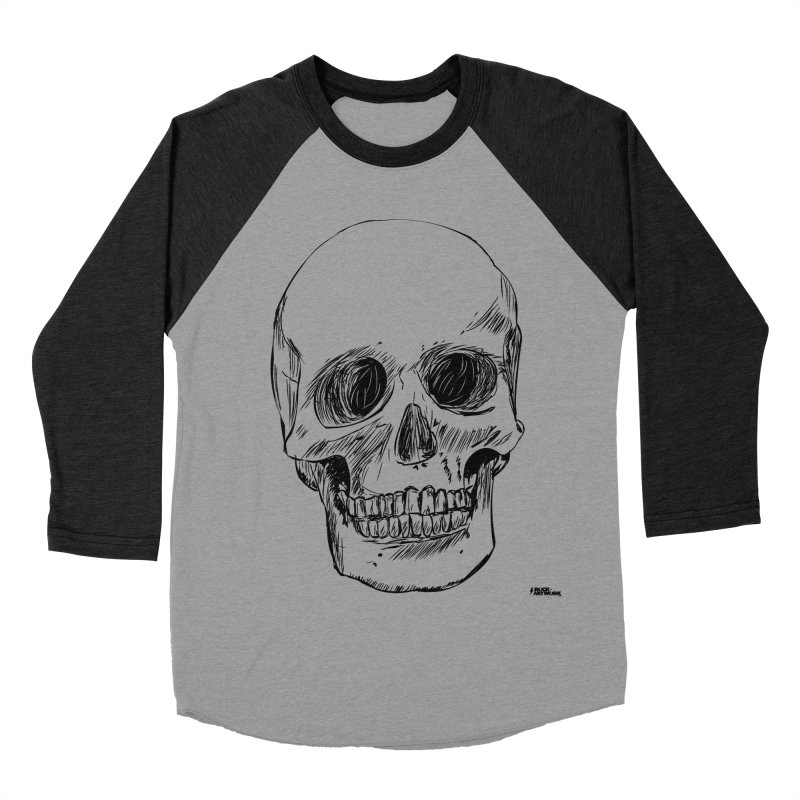 A Simple Skull Men's Baseball Triblend Longsleeve T-Shirt by ROCK ARTWORK | T-shirts & apparels