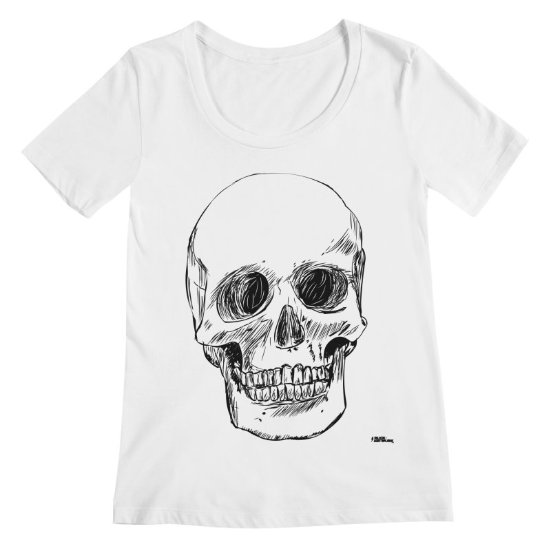 A Simple Skull Women's Regular Scoop Neck by ROCK ARTWORK | T-shirts & apparels