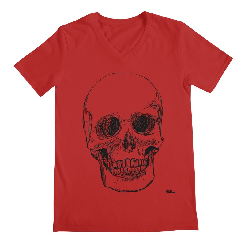 A Simple Skull Men's V-Neck by ROCK ARTWORK | T-shirts & apparels
