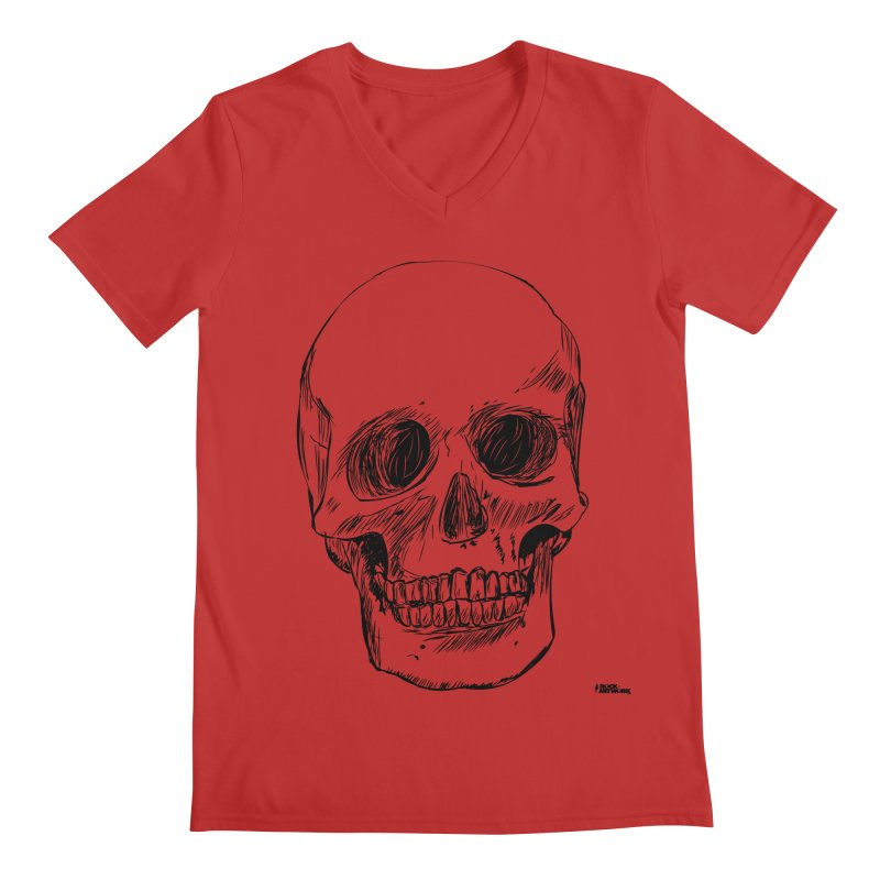 A Simple Skull Men's V-Neck by ROCK ARTWORK   T-shirts & apparels