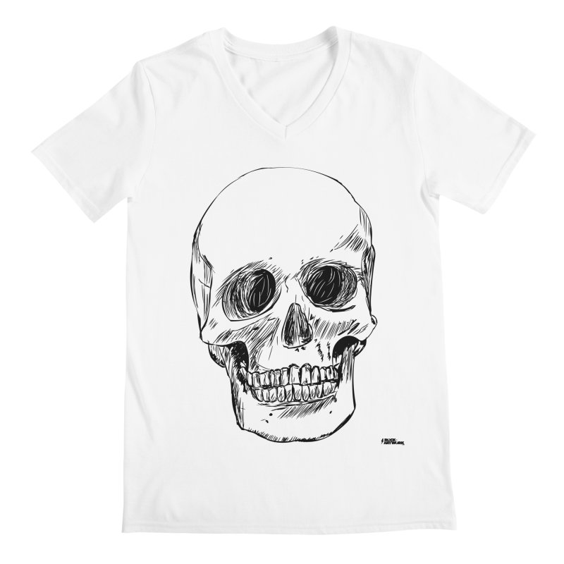 A Simple Skull Men's Regular V-Neck by ROCK ARTWORK | T-shirts & apparels