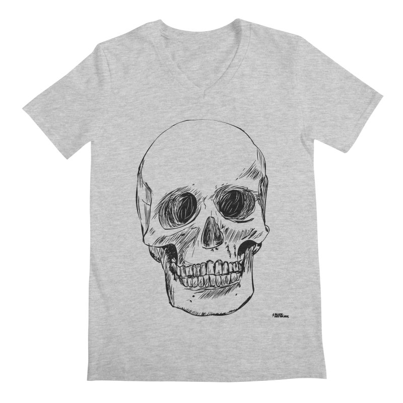 A Simple Skull Men's V-Neck by ROCK ARTWORK | T-shirts & apparels