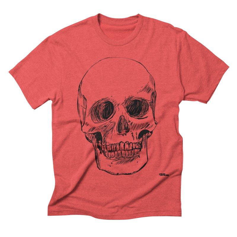 A Simple Skull Men's Triblend T-shirt by ROCK ARTWORK | T-shirts & apparels