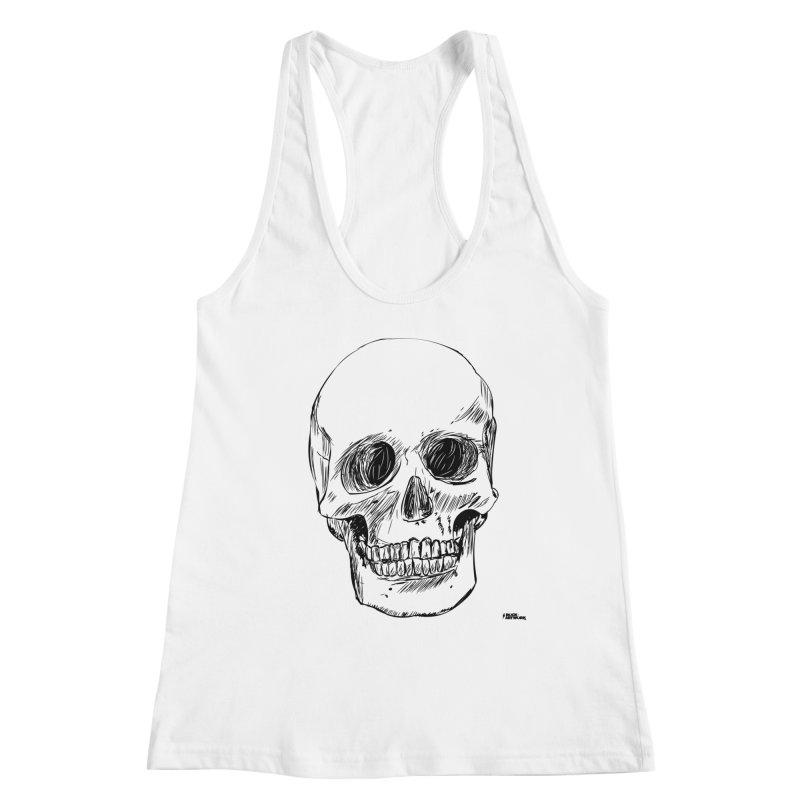 A Simple Skull Women's Tank by ROCK ARTWORK | T-shirts & apparels