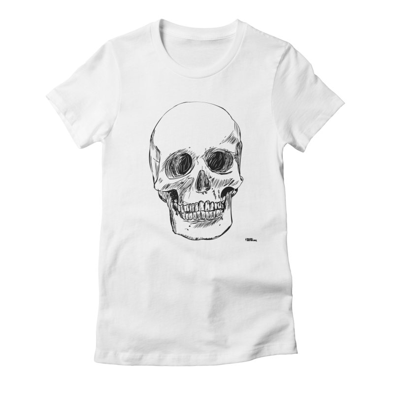 A Simple Skull Women's T-Shirt by ROCK ARTWORK | T-shirts & apparels