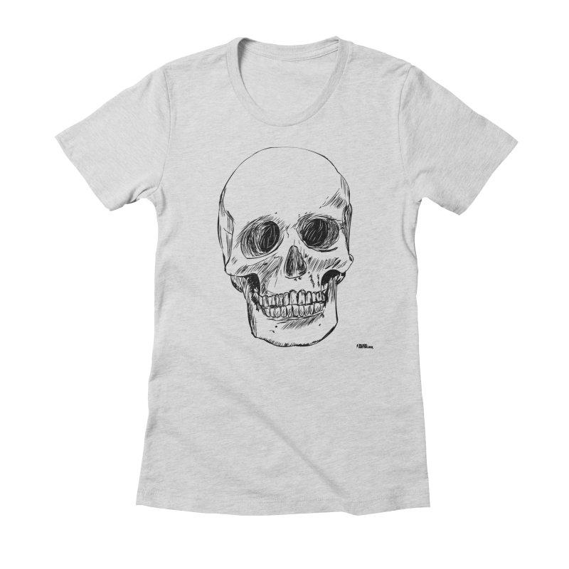 A Simple Skull Women's T-Shirt by ROCK ARTWORK   T-shirts & apparels