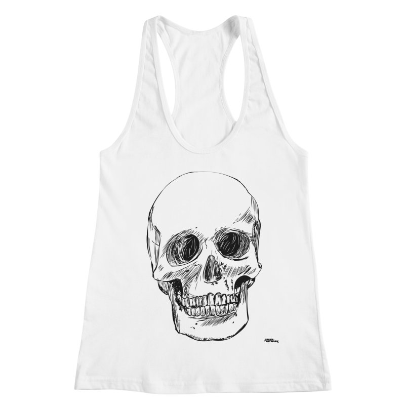 A Simple Skull Women's Racerback Tank by ROCK ARTWORK | T-shirts & apparels