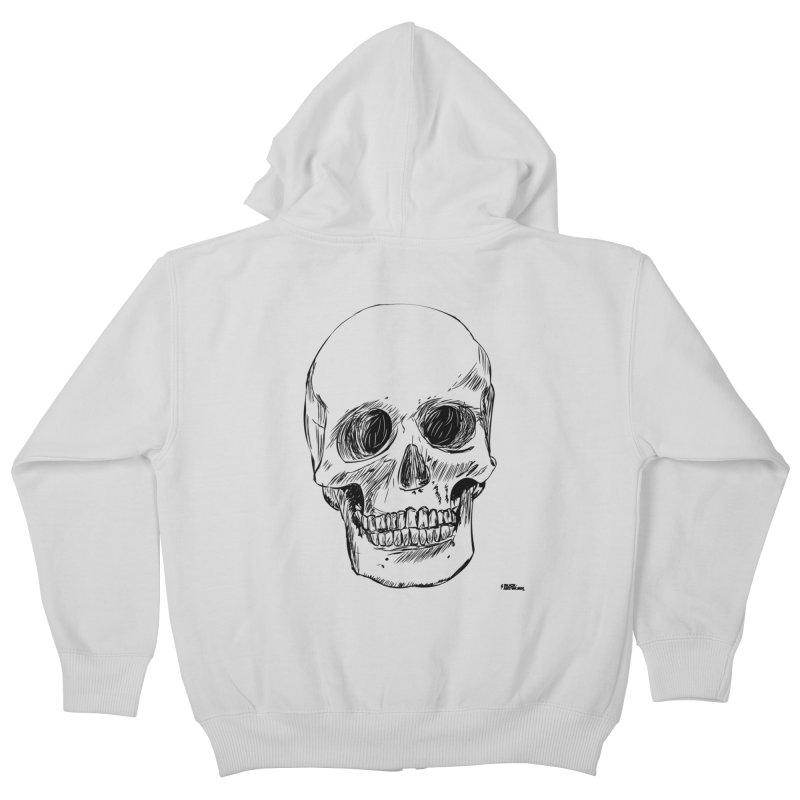 A Simple Skull Kids Zip-Up Hoody by ROCK ARTWORK   T-shirts & apparels