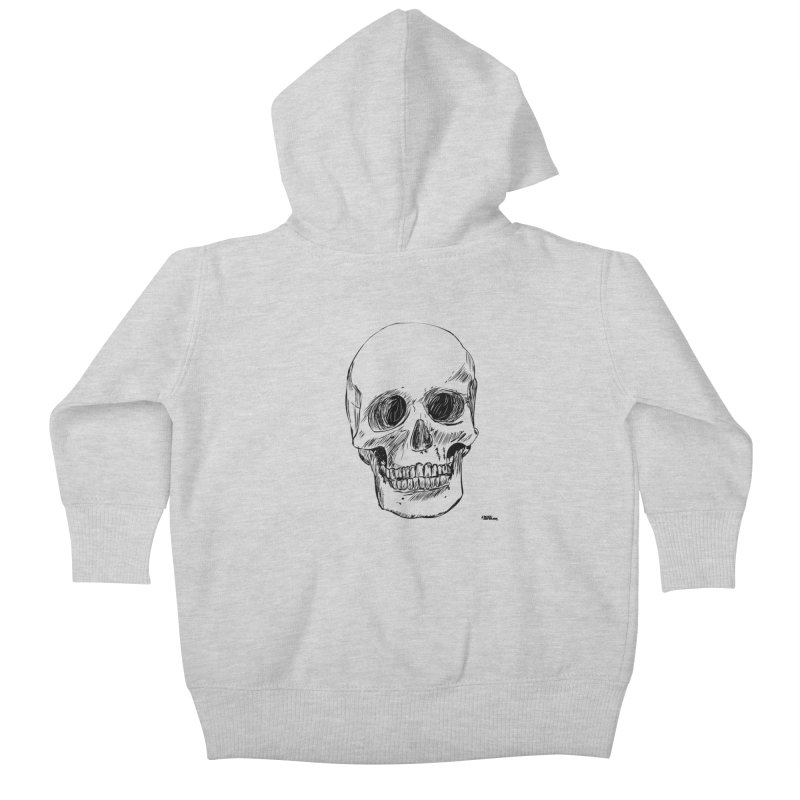 A Simple Skull Kids Baby Zip-Up Hoody by ROCK ARTWORK | T-shirts & apparels