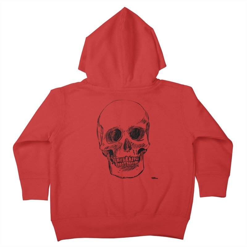 A Simple Skull Kids Toddler Zip-Up Hoody by ROCK ARTWORK | T-shirts & apparels