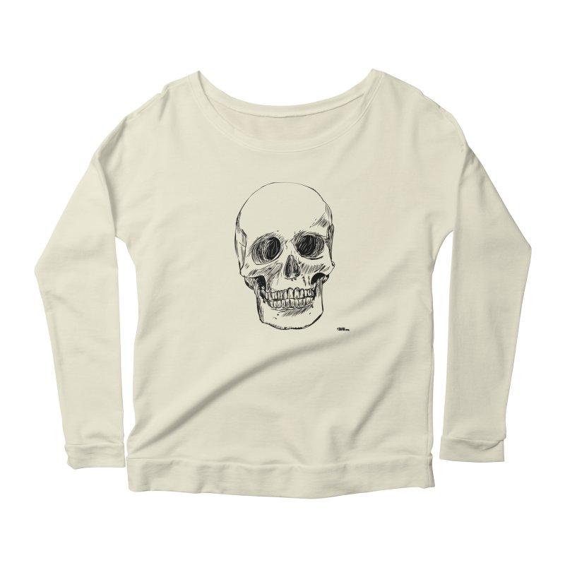 A Simple Skull Women's Scoop Neck Longsleeve T-Shirt by ROCK ARTWORK | T-shirts & apparels