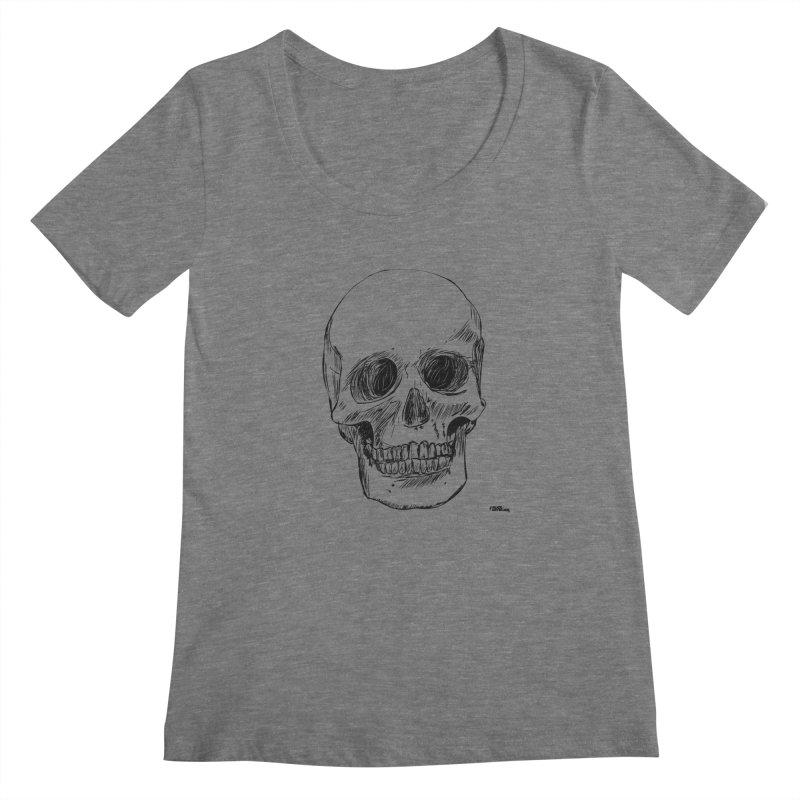 A Simple Skull Women's Scoopneck by ROCK ARTWORK | T-shirts & apparels