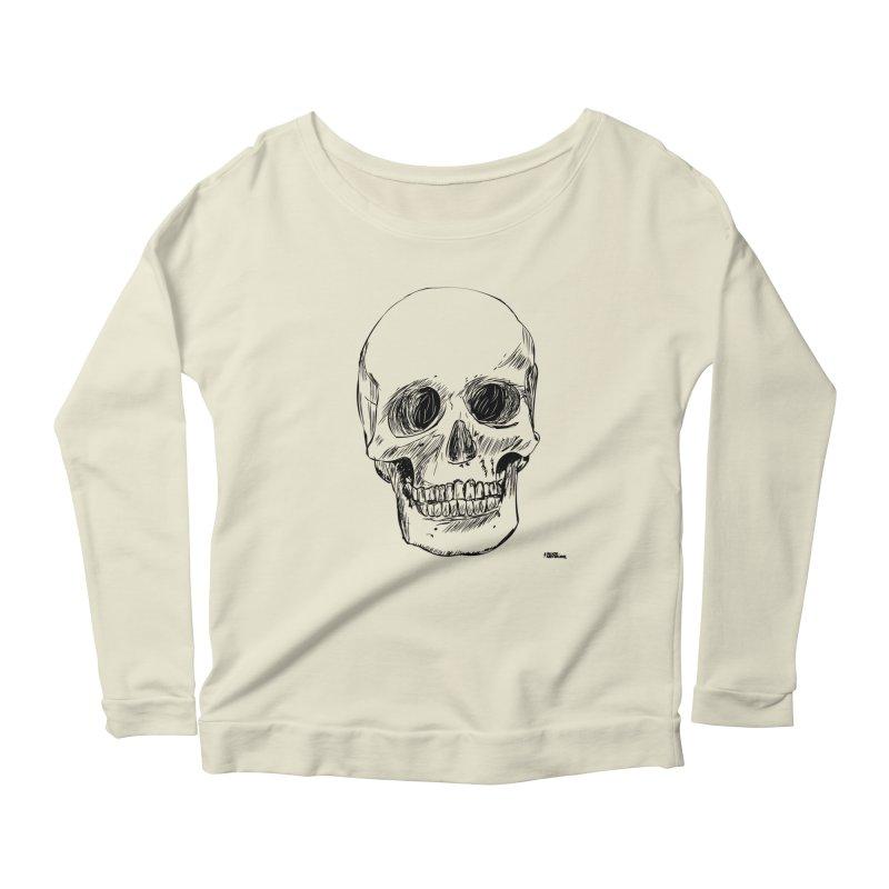 A Simple Skull Women's Longsleeve Scoopneck  by ROCK ARTWORK | T-shirts & apparels