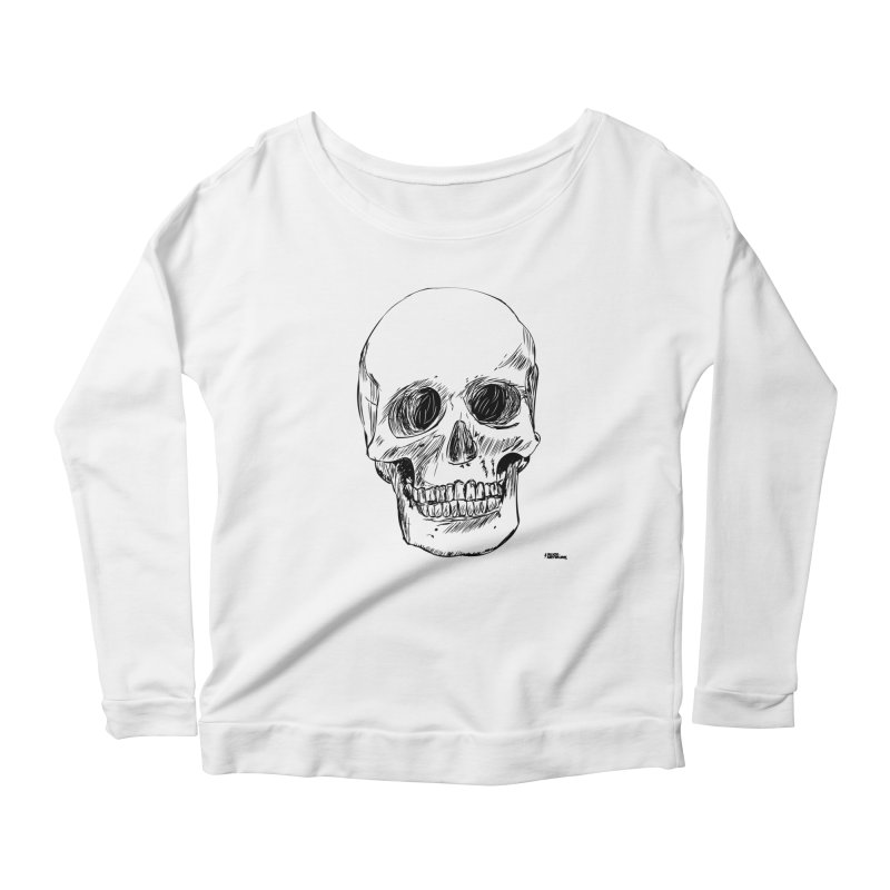 A Simple Skull Women's Scoop Neck Longsleeve T-Shirt by ROCK ARTWORK | T-shirts & apparels