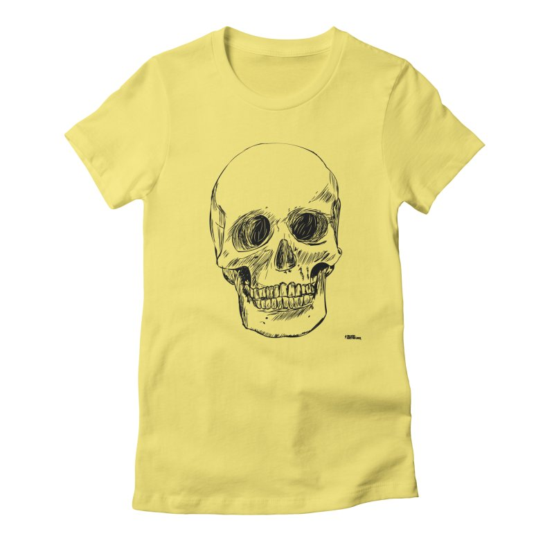 A Simple Skull Women's Fitted T-Shirt by ROCK ARTWORK | T-shirts & apparels
