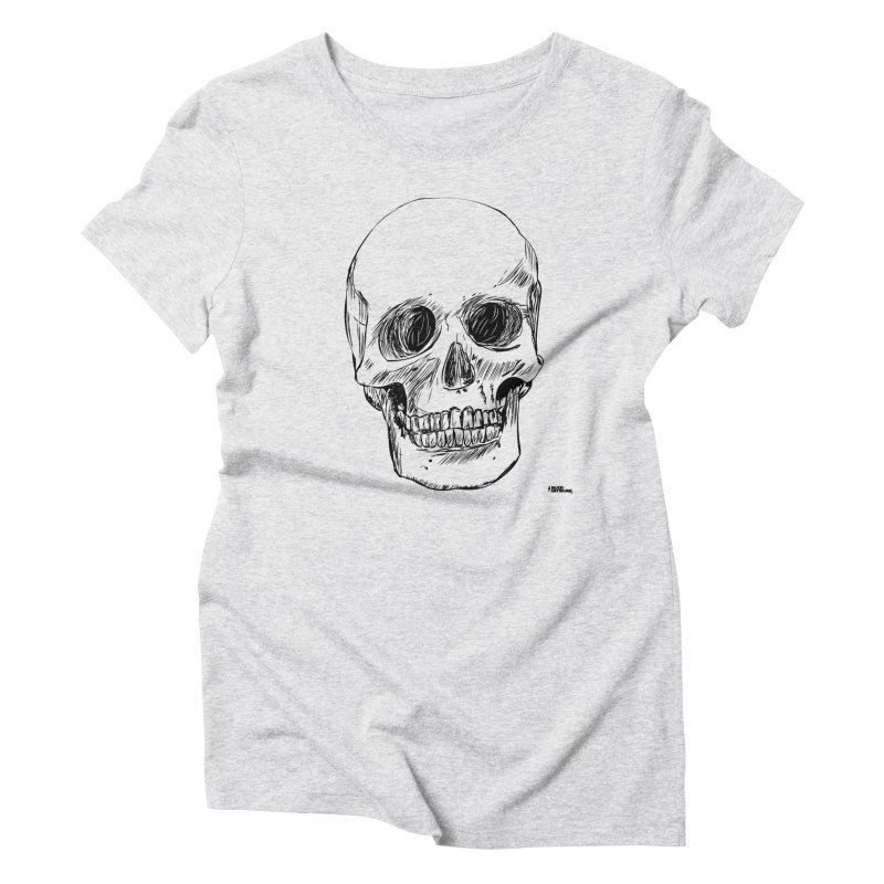 A Simple Skull Women's Triblend T-Shirt by ROCK ARTWORK | T-shirts & apparels